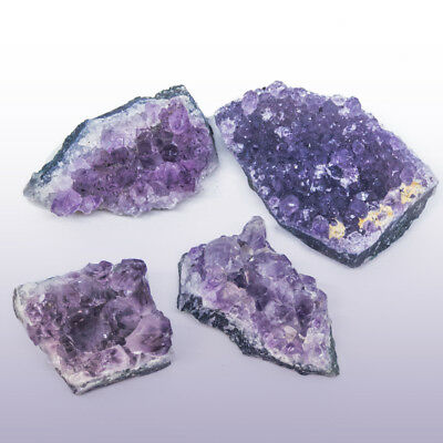 4x Natural Amethyst Gemstone Cluster Crystal Quartz Healing Stone Collectables