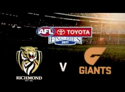 AFL Preliminary Final Tickets Richmond vs GWS MCG 1 X Category 6 Reserved Seat