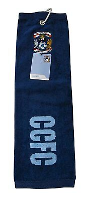 Coventry City CCFC Football 100% Official Golf Tri Fold Towel RRP£25