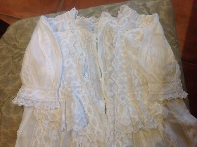 beautiful Lace Antique, Vintage Christening Gown. Heirloom Piece