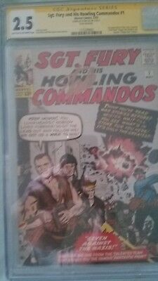 Sgt. Fury #1 (May 1963, Marvel) CGC SS  Stan LEE