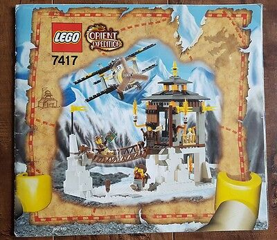 Orient Expedition LEGO - 7417 Temple Of The Mountain Instruction Manual Only