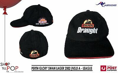 Perth Glory 2002 Grand Final (NSL) A League SWAN LAGER  Adj' Cap BNWOT  RARE