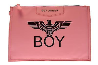 Boy London pochette donna ecopelle con stampa BLA-17 ROSA A17