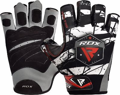 RDX Weight Lifting Gloves Body Fitness Workout Building Gym Straps Training