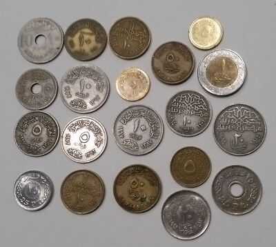 20 different Egyptian coins from Egypt
