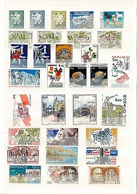 monaco neuf sans charnieres  annee complete 1986 (52 timbres) cote 147 €
