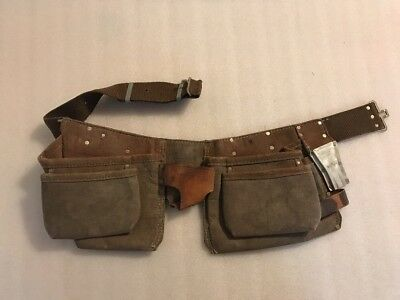 "Nicholas No. 1522 Utility Work Tool Belt Genuine Leather Up To 42"" Waist"