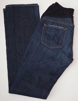 Citizens Of Humanity Maternity Jeans 28 Boot Cut Dark Wash Belly Band Denim