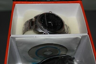Chrome Wrist Watch with Built in Hidden Camera + Accessories - Used, Not Working
