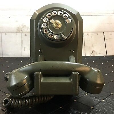 VTG Automatic Electric AE 50 Rotary Wall Telephone Jukebox Coffin Parts Decor
