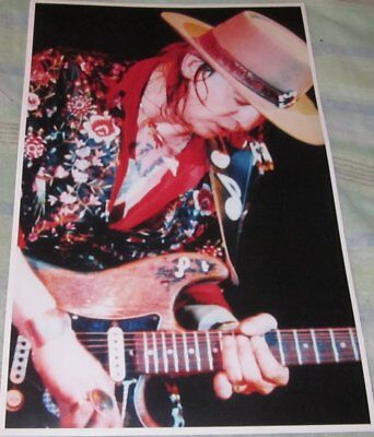 Stevie Ray Vaughan Close Up Photo Replica Concert Poster W/protective Sleeve