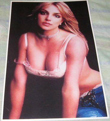 Britney Spears Sexy Close Up Photo Replica Poster W/protective Sleeve