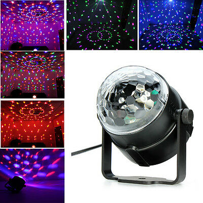 2017 RGB DJ Party Disco Lights Music Active Crystal Ball Rotating LED Stage Club