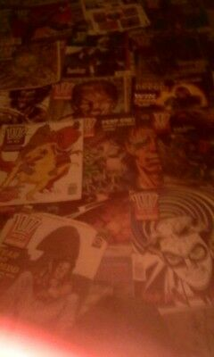 2000ad used writing on front cover 22 issues