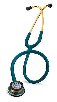 3M Littmann Classic III Stethos Caribbean Blue/Rainbow New 5807-5 Years Warranty