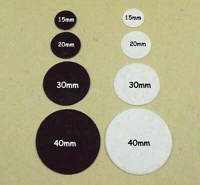 15-30MM Round Black & White Felt Circles Felt Pads, Crafts, Sewing, Card Making