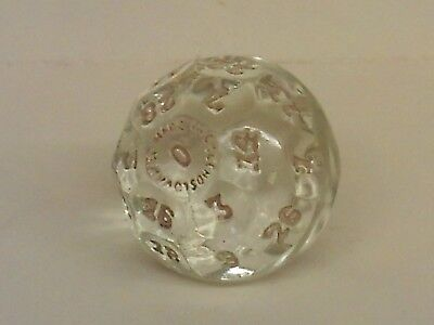 vintage glass gamming dice 32 sides