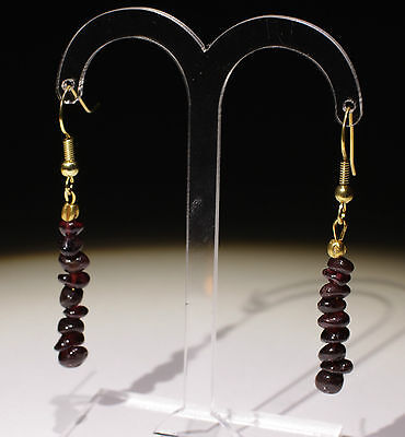 Ancient Roman Gold & Garnet Bead Earrings - Circa 2Nd Century Ad - No Reserve!
