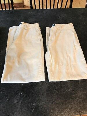 Boys Ralph Lauren Polo Tan Khaki Chino Pants Lot Of 2 Pair - Size 16