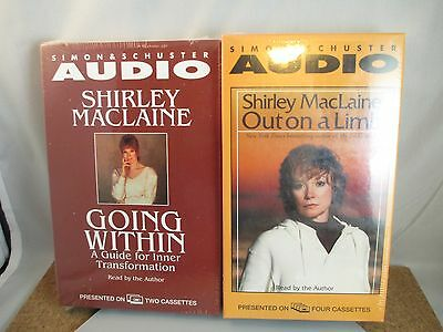 Rare Sealed Shirley MacLaine Audio Books Out on a limb & Going within