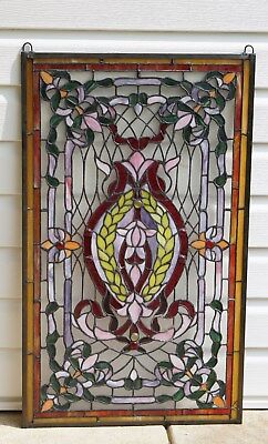 """20.5"""" x 34.75"""" Stunning Decorative Handcrafted stained glass panel"""