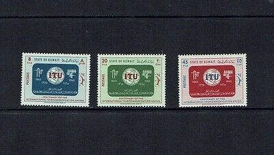 Kuwait: 1965  ITU Centenary, Mint lghtly hinged set