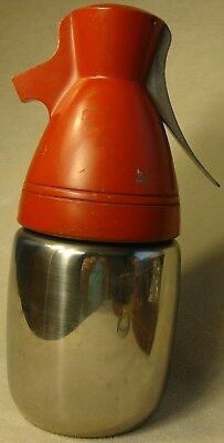 Rare Classic Vintage CO2 Seltzer Soda Syphon Metal Bottle Red & Stainless Steel