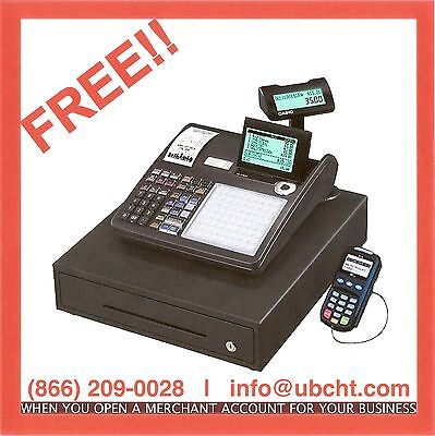 New Casio SE 3500 Cash Register FREE when opening Low Rate Merchant Account
