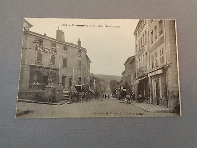 CPA, FIRMINY (Loire), rue Victor Hugo.