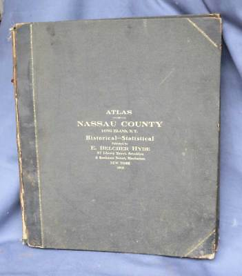 1914 Atlas Nassau County Long Island New York Historical