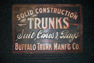 Vintage/Antique Buffalo Trunk Manufacturing Advertising Sign