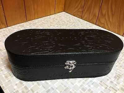 Younique Embossed Hard Make Up Presenters Case Trunk Black - NEW