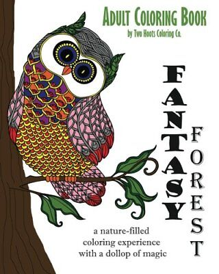 Adult Coloring Book Fantasy Forest Adult Coloring Books Volume 2