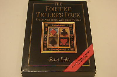 The Fortune Teller's Deck Of Playing Cards Jane Lyle 54 Cards & Book 1St Edition