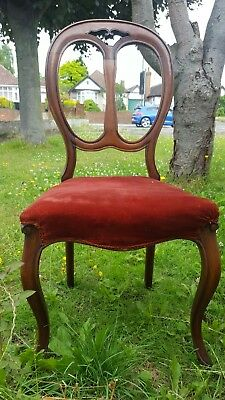 Antique/vintage old Victorian Balloon back chair