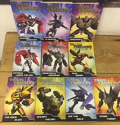 TRANSFORMERS PRIME 10 Books Fiction Collection Set [PaperBack] - Great Condition