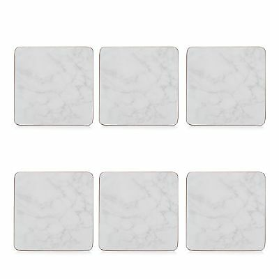 Istyle Pack Of 6 Grey Marble Effect Coasters From Debenhams