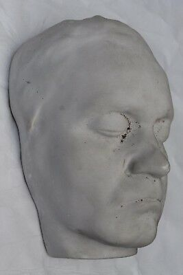 ANTIQUE VINTAGE DEATH MASK; post mortem funeral