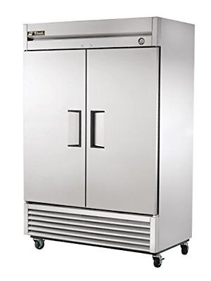 "True T-49F 54"" Two Section Solid Door Reach in Freezer"