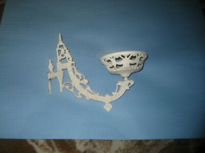 Antique Cast Iron Wall Mount Sconce Oil Lamp Holder Victorian