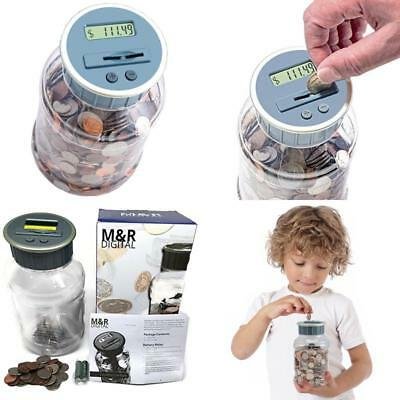Digital Coin Sorter Money Personal Counter Machine Change Bank Count Jar Wrapper