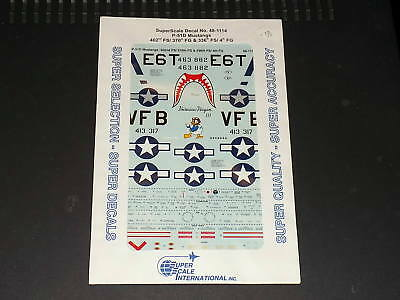 Superscale Decals 481114 1/48 P-51D Mustangs 402nd FS / 370 FG / 336 FS