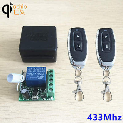 2pcs 433Mhz Universal Wireless Remote Control Switch DC 12V 1CH relay Receiver.