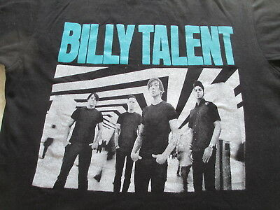 Billy Talent 2013 Dead Silence Tour Black White T Shirt Size S Small M Medium