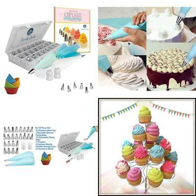 50 Piece Set Stainless Steel Cake Pipping Tips Icing Nozzle Decorating Cupcake