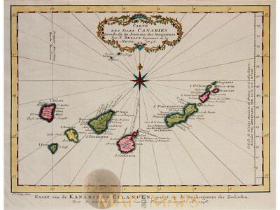 Canary Islands Isles Canaries Bellin map 1746