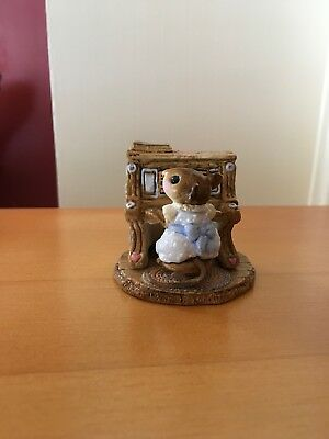 1978 Wee Forest Folk Blue Mouse Pianist  M30  rare WFF no box