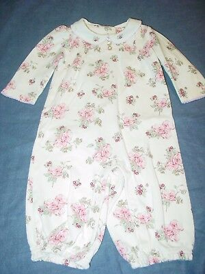 Baby Girls 1 Piece Outfit/Romper by GYMBOREE - Sz 3-6 m - Pink FLORAL/Off White