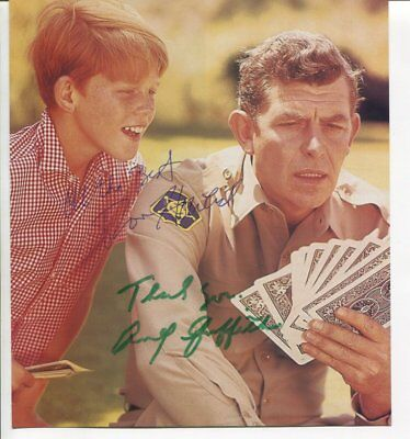 RON HOWARD & ANDY GRIFFIUTH  autograph HAND SIGNED 1853
